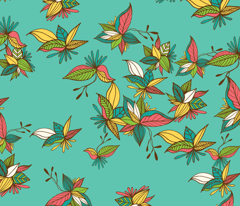 Leaves green fabric by patriciasodre on Spoonflower - custom fabric