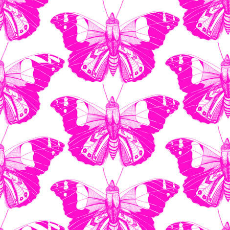 Candyfloss Flutterings fabric by pennyroyal on Spoonflower - custom fabric