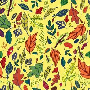 Leaf Path in Butter