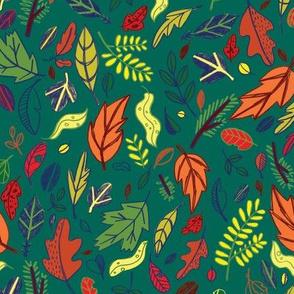 Leaf Path in Teal