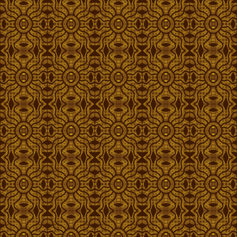 Tribal Mud Cloth Brown fabric by eve_catt_art on Spoonflower - custom fabric
