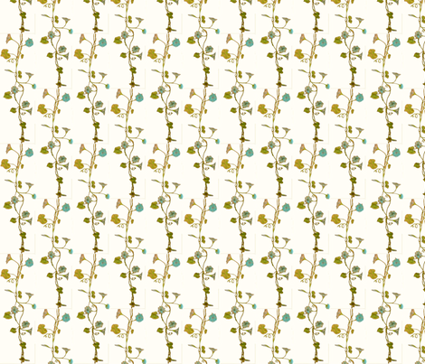 Blue_Vine 2 fabric by katawampus on Spoonflower - custom fabric