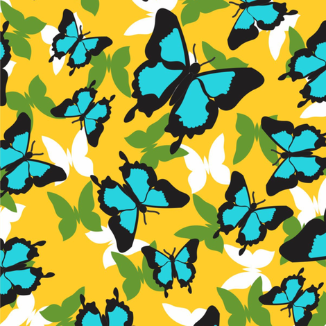 Ulysses_yellow fabric by malolo on Spoonflower - custom fabric