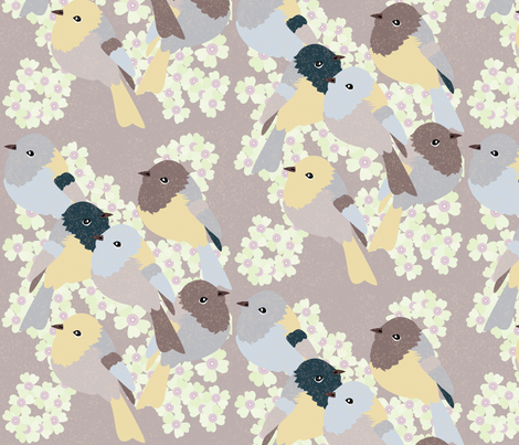 Little Birds - 3 fabric by owlandchickadee on Spoonflower - custom fabric