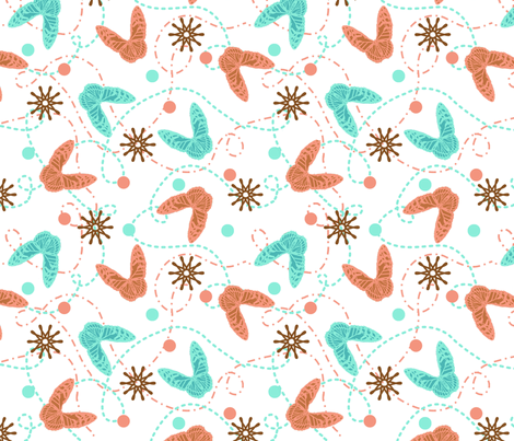 Butterfly Flight Path fabric by rickrackscissorsstudio on Spoonflower - custom fabric