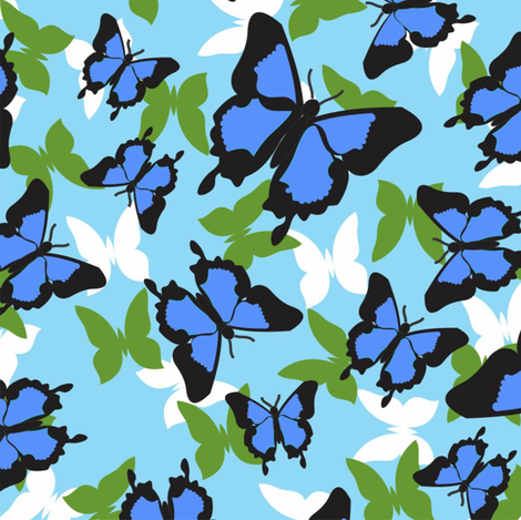 Ulysses_blue fabric by malolo on Spoonflower - custom fabric