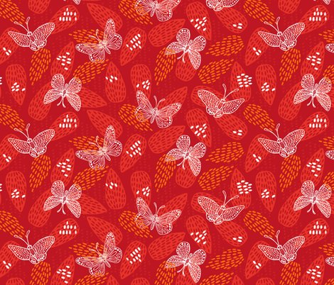 Rrrbutterflies_on_leaves_red_copyright_pinky_wittingslow_2015_ver1-01_shop_preview