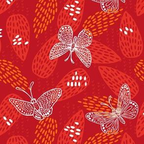 Butterflies at Dawn - Red