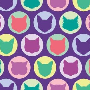 Cat Dots in Purple