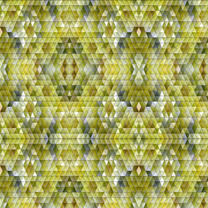 Mosaic Triangles in Chartreuse