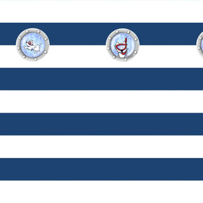 Nautical KiniArt Westie Portholes LG