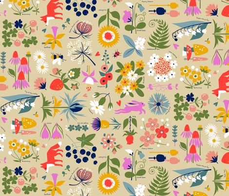 Edith's Garden fabric by cerigwen on Spoonflower - custom fabric