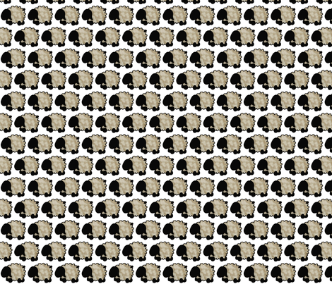 Spunky Eclectic Sheep fabric by spunky_eclectic on Spoonflower - custom fabric