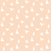 Doves in Flight, Peach Blush for Desert Meadow Collection