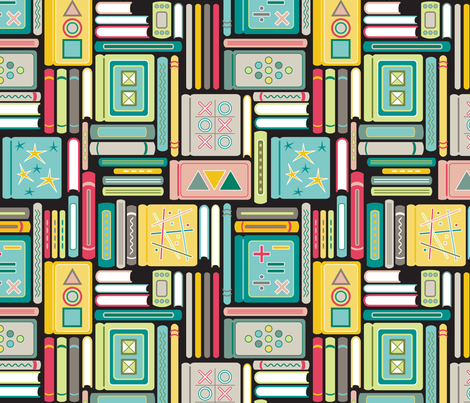 Book Bonanza (Elementary) fabric by brendazapotosky on Spoonflower - custom fabric