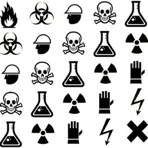 Hazard Icon Fabric