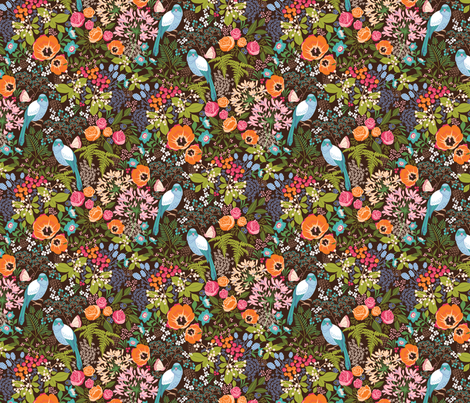 botanical dreamscape fabric by catalinakim on Spoonflower - custom fabric