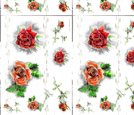 old_roses-ed fabric by katawampus on Spoonflower - custom fabric