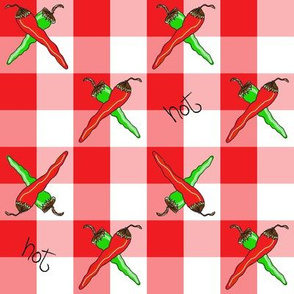 Chili Pepper Gingham