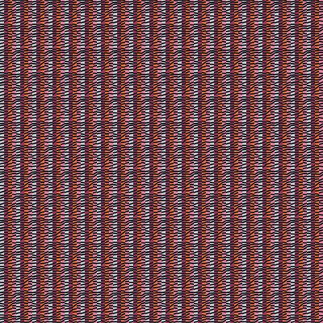 Hollyhock Tumbledown Stripe fabric by siya on Spoonflower - custom fabric