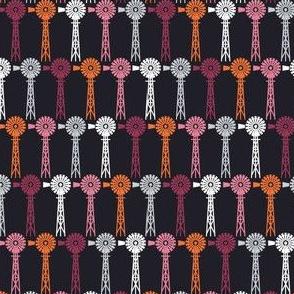 Hollyhock Windmills - Black
