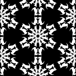 White Scottie Snowflakes