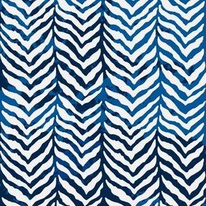Navy Herringbone Tweed