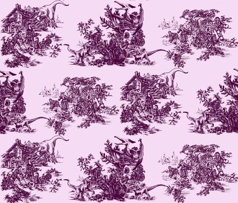 Jurassic toile berry fabric by webbiededge on Spoonflower - custom fabric
