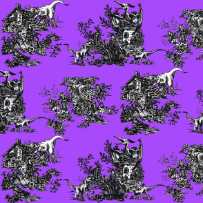 Jurassic toile purple shock