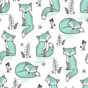 Dreamy Fox in Mint