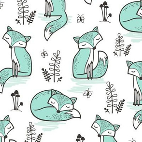 Dreamy Fox in Mint