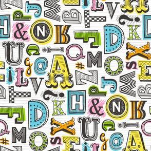 Alphabet Letters Doodle
