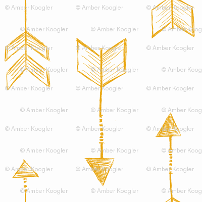 Arrow Sketch Mustard Yellow