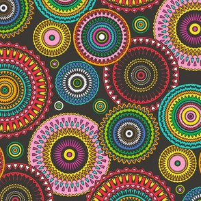 Colourful Multicolour Circles Geometric