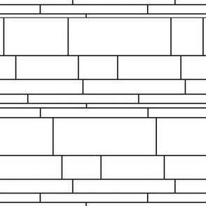 Mondrian-inspired black-n-white stripes - horizontal