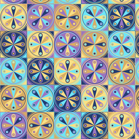 Eos Wheels fabric by siya on Spoonflower - custom fabric