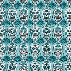 Turquoise Sugar Skulls