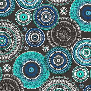 Circles Geometric in Blue