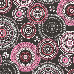 Circles Geometric in Pink