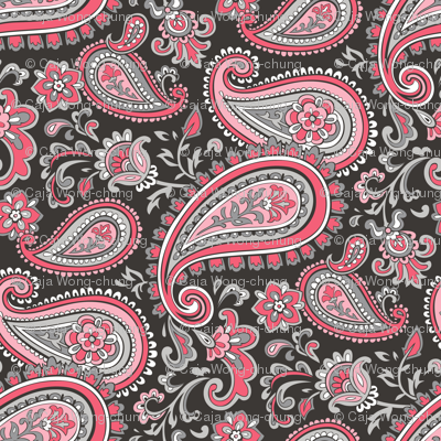 Modern Paisley in Pink