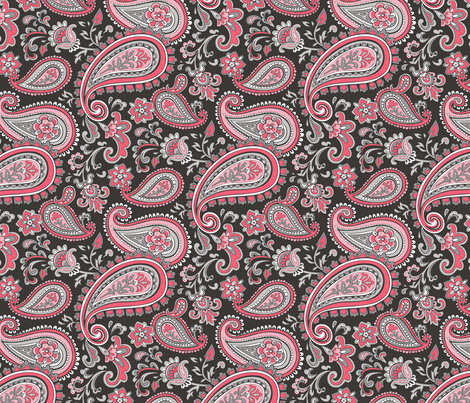 Modern Paisley in Pink fabric by caja_design on Spoonflower - custom fabric