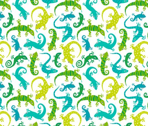 Cute Lizards fabric by caja_design on Spoonflower - custom fabric