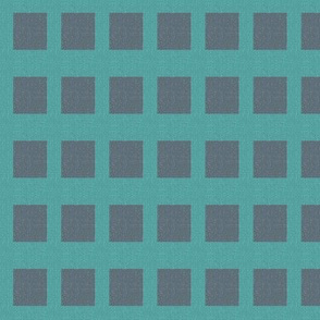 square peg - turquoise and slate gray
