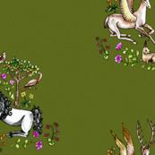 medieval Unicorn Garden v2