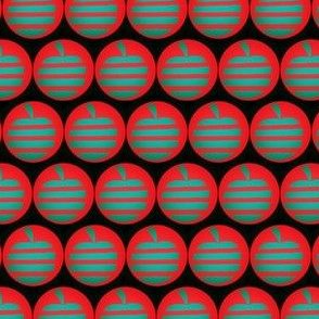 Sage Apples Red Circles