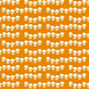 Skeleton Garland on orange