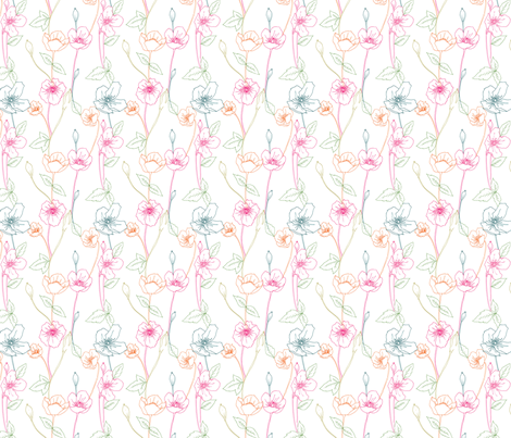Pop-out poppies fabric by accidentalvix on Spoonflower - custom fabric