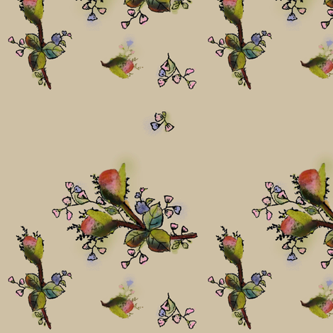 Briar Rose China Pattern fabric by eve_s on Spoonflower - custom fabric