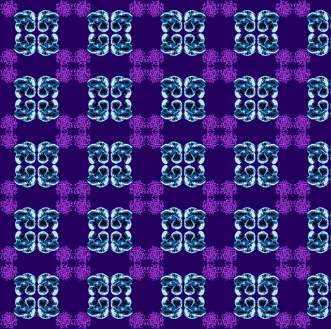 Floral Plaid fabric by chinaberries_studio on Spoonflower - custom fabric