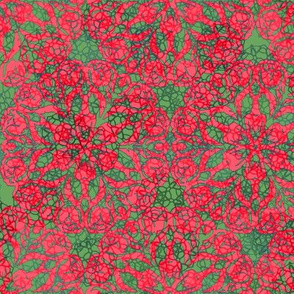 Christmas Rose Snowflake Crackle
